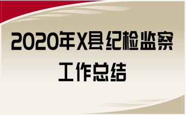 2020年X县纪检监察工作总结