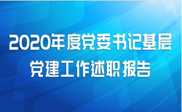 2020年度党委书记基层党建工作述职报告