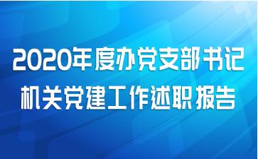 2020年度办党支部书记机关党建工作述职报告