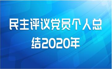 民主评议党员个人总结2020年