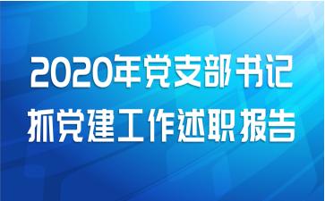 2020年党支部书记抓党建工作述职报告