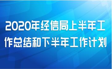2020年经信局上半年工作总结和下半年工作计划