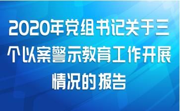 2020年党组书记关于三个以案警示教育工作开展情况的报告