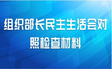 组织部长民主生活会对照检查材料