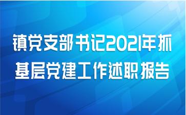 镇党支部书记2021年抓基层党建工作述职报告
