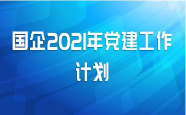 国企2021年党建工作计划